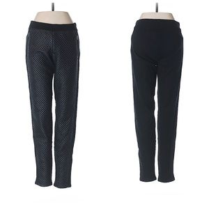 TRACTR Pull On Faux Leather Quilted Black Jeggings